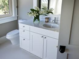 enchanting decorating ideas with frosted windows for bathrooms elegant decorating ideas using rectangular white wooden vanity cabinets and round grey sinks also with