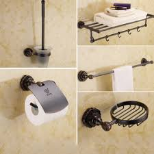 Black Bathroom Accessories by Cheap Decorative Bathroom Accessories And Hardware Sets Sale