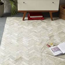 Real Cowhide Rug Pieced Patched Cowhide Rug Chevron West Elm