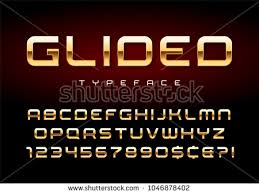 font design series vector golden number collection download free vector art stock graphics