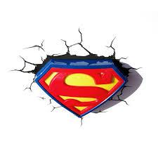 superman logo 3d led deco wall light crack sticker new ebay superman logo 3d led deco wall light crack sticker new