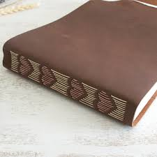 leather bound wedding albums wedding guest book wedding album memory book scrapbook rustic