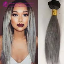 silver hair extensions 7a 3pcs best quality ombre hair extensions silver grey hair