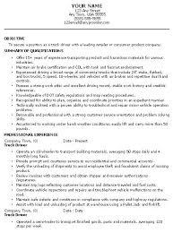 driving resume samples resume for truck driver templates resume