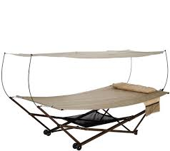 Hammock Bliss Bliss Hammocks 2 Person Ez Stow Hammock With Canopy Wheels And Bag