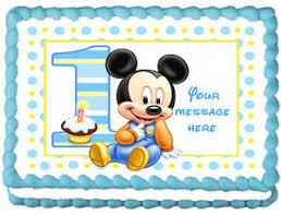 edible cake topper baby mickey mouse image edible cake topper design ebay