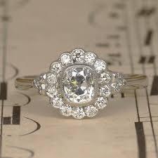 antique diamond engagement rings art deco old cushion cut diamond halo engagement ring vintage