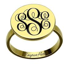 Monogram Ring Gold Monogram Ring U2013 Anastasia Belle Co