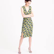 j crew petite sleeveless silk dress in spring meadow in multicolor