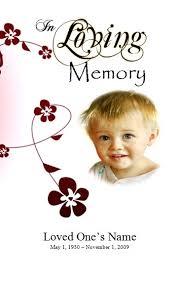 memorial service programs sample for boy funeral program