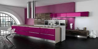 cuisine violette cuisine design violette et bois
