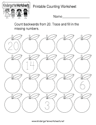 this is a backward counting worksheet for kindergarteners kids