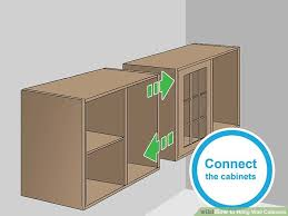 how to attach cabinets to wall how to hang wall cabinets 15 steps with pictures wikihow