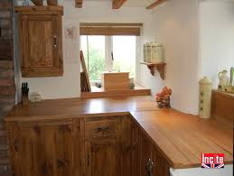custom made country rustic pine and oak fitted kitchen