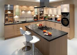Kitchen Renovation Ideas 2014 by Traditional White Kitchen Design Ideas With Wooden Island Granite