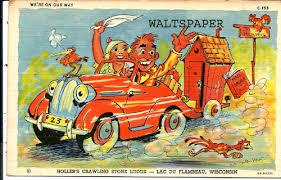 comic postcards waltspaper