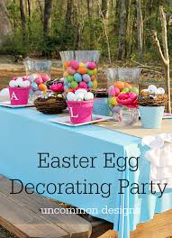 Simple Easter Table Decorations by Quick And Easy Easter Egg Hunt Party
