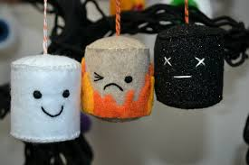 halloween felt ornaments marshmallows and eyeballs whisker meadow
