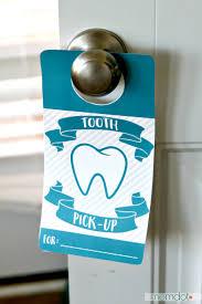 tooth fairy door hanger momdot