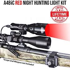 wicked hunting lights amazon amazon com wicked lights a48ic red night hunting light kit for