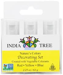 colors yellow amazon com india tree natural decorating colors 3 bottles red