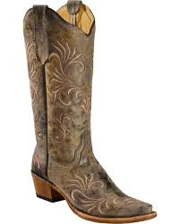 womens boots green circle g s filigree boots snip toe country outfitter