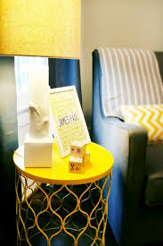 nursery accent table marie flanigan interiors fun modern yellow and gray nursery with
