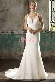 lace mermaid wedding dresses simple yet sleeveless scalloped v neckline ivory lace