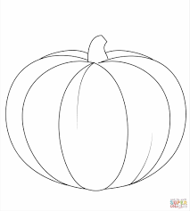 Halloween Pumpkin Coloring Page Black And White Lineart Free Clip Art Black Pumpkins To Color And