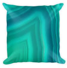 agate home decor 18 x 18 in decorative photo pillow case aqua agate 3 rock stone
