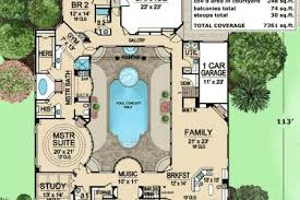 central courtyard house plans house floor plans central courtyard modern hd
