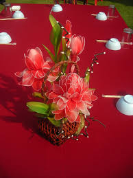 file red artificial flower as table decoration jpg wikimedia commons