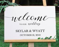 welcome wedding sign printable welcome sign template wedding
