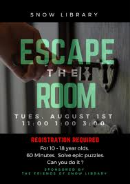 escape the room at snow library