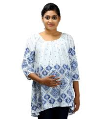 ziva maternity wear buy ziva maternity wear white cotton tops online at best prices in