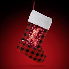 yew stuff pop lights reindeer holiday stocking
