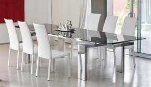 Black Glass Dining Room Sets Modern Glass Dining Room Tables Home Interior Design