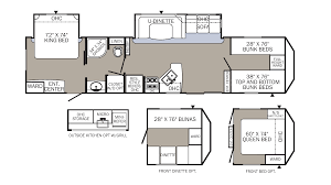 camper floor plans with bunk beds image collections home