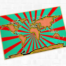 World Map Posters by Compare Prices On Wall Pops World Map Online Shopping Buy Low