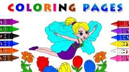 thumbelina coloring book baby learn colors drawing thumbelina