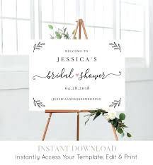 wedding welcome sign template template bridal shower welcome sign template editable wedding