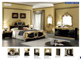Bedroom Set With Matching Armoire Barocco Black W Gold Camelgroup Italy Classic Bedrooms Bedroom