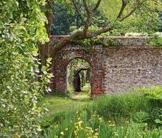 entrance to the walled garden at preston manor brighton garden