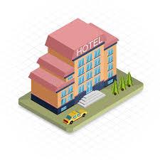 bureau de dessin en b iment bâtiment d hôtel icône isométrique de conception du pixel 3d