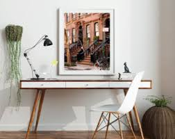 New York City Home Decor Brownstones Etsy
