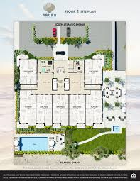 Site Floor Plan by Oceanfront And Oceanview Condominium Amenities Daytona Beach