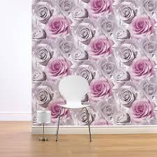 girls chic wallpaper kids bedroom feature wall decor various