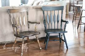 Cheap Dining Room Chairs Set Of 4 Black Dining Room Chairs Makeover The Wood Grain Cottage