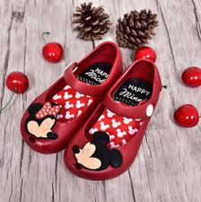 mini inspired shoes jelly princess bows mickey