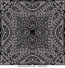 bandana black white traditional ornamental ethnic stock vector